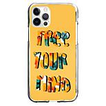 abordables -Nouveauté Lettre Cas Pour Pomme iPhone 12 iPhone 11 iPhone 12 Pro Max Modèle unique Étui de protection Antichoc Motif Coque TPU