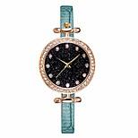 economico -orologi da donna orologio al quarzo analogico quadrante stellato orologio da cintura in pelle di strass orologio da polso da ragazza per ragazze