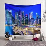 abordables -Tapisserie murale art décor couverture rideau suspendu maison chambre salon décoration polyester lumières de la ville