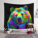 abordables -Tapisserie murale art décor couverture rideau suspendu maison chambre salon décoration polyester couleur ours brun