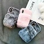 abordables -téléphone Coque Pour Apple Coque Arriere iPhone 12 Pro Max 11 SE 2020 X XR XS Max 8 7 6 Réchauffeur Antichoc Couleur Pleine Pluche TPU Pluche