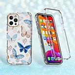 abordables -téléphone Coque Pour Apple Coque Intégrale iPhone 12 Pro Max 11 SE 2020 X XR XS Max 8 7 Antichoc Motif Papillon TPU