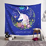 abordables -Tapisserie murale art décor couverture rideau suspendu maison chambre salon décoration polyester lilas licorne