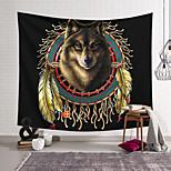 abordables -Tapisserie murale art décor couverture rideau suspendu maison chambre salon décoration polyester loup inde