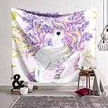 abordables -Tapisserie murale art décor couverture rideau suspendu maison chambre salon décoration polyester ventilateur licorne soulève ses pieds