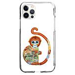 abordables -Singe Animal Cas Pour Pomme iPhone 12 iPhone 11 iPhone 12 Pro Max Modèle unique Étui de protection Antichoc Motif Coque TPU