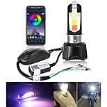 abordables -Moto LED Lampe Frontale Ampoules électriques CSP 40 W Pour motocyclettes Toutes les Années 2 pièces
