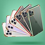 abordables -téléphone Coque Pour Apple Coque Arriere iPhone 12 Pro Max 11 SE 2020 X XR XS Max 8 7 Antichoc Etanche à la Poussière Transparente TPU