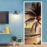 abordables -Vacances Stickers Muraux Chambre / Salon, Amovible Vinyle Décoration d'intérieur Stickers muraux 2 pièces