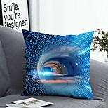 abordables -1 pcs Polyester Housse de coussin Taie d'oreiller et insert simple Classique Carré Zip Polyester Traditionnel Classique