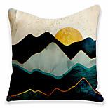 economico -Doppio lato 1 pezzo fodera per cuscino geometrica stampa 45x45cm lino per divano camera da letto