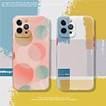economico -telefono Custodia Per Apple Per retro iPhone 12 Pro Max 11 SE 2020 X XR XS Max 8 7 Fantasia / disegno Geometrica TPU