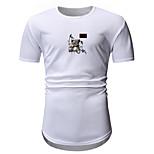 economico -Per uomo maglietta Stampa a caldo Stampe astratte Animali Con stampe Manica corta Quotidiano Top Casuale Di tendenza Bianco Vino Verde militare