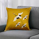 economico -doppio lato 1 pz fodera per cuscino uccello stampa 45x45cm lino per divano camera da letto
