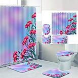 economico -Bagno Tenda da doccia e set di tappetini Moderno Poliestere Nuovo design