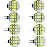 abordables -8 pièces 2 W LED à Double Broches 280 lm G4 24 Perles LED SMD 2835 Blanc Chaud Blanc 9-30 V