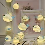 abordables -1,5 m Guirlandes Lumineuses 10 LED 1 jeu Blanc Chaud Plusieurs Couleurs Noël Nouvel An Soirée Décorative Adorable Piles AA alimentées