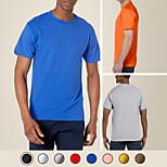 abordables -litb basic t-shirt en coton lourd pour hommes 100% coton doux confortable classique t-shirt coloré simple t-shirt d'été masculin