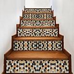 abordables -Creative imitation mosaïque 3d escalier autocollants bricolage imitation décoratif maison autocollants étanche 3d stéréo stickers muraux