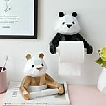 abordables -Panda porte-serviettes en papier cuisine salle de bains ménage porte-papier hygiénique porte-rouleau de papier mural perforé