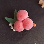 abordables -1 PCS Enfants / Bébé Fille Doux Usage quotidien Fruit Polyester Accessoires Cheveux Rouge Taille unique