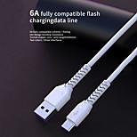 economico -SENDEM Micro USB USB C Cavi Carica rapida Trasmissione dati Caricatore del telefono 6 A 1.0m (3 piedi) pet Per Samsung Xiaomi Huawei Appendini per cellulare
