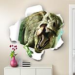 abordables -3D / Animaux Stickers Muraux Chambre / Chambre d'enfants et jardin d'enfants, Pré-coller PVC Décoration d'intérieur Stickers muraux 1 pc
