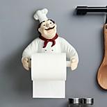 abordables -Chef sans poinçon support de rouleau de pâte multifonction mural en résine cuisine salle de bain serviette petit objet support de rangement