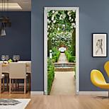 economico -Adesivi per porte creativi autoadesivi 3d 2 pezzi soggiorno camera da letto adesivi murali impermeabili per la casa decorativi fai da te 77x200cm