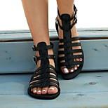 economico -Per donna Sandali Boho Scarpe romane Piatto Punta tonda Casuale Vintage ▾ Classico Quotidiano Spiaggia PU Sintetico Marrone chiaro Nero Oro