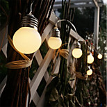 abordables -led retro globe festoon bulb 1.5m 3m ball string light outdoor led outdoor lights for wedding garden decor vacances guirlande string light aa batterie power