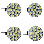 abordables -4 pièces 3 W LED à Double Broches 300 lm G4 15 Perles LED SMD 5050 Blanc Chaud Blanc Naturel Blanc 9-30 V