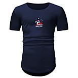 abordables -Homme Unisexe T-shirt Estampage à chaud Bande dessinée Imprimés Photos Grandes Tailles Imprimé Manches Courtes Quotidien Hauts Simple Mode Noir Vin Vert Véronèse