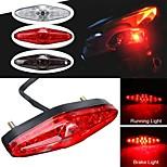 abordables -otolampara dc 12v rouge LED moto atv dirt bike frein arrêt de course feu arrière sans support 1 pièces - coque blanche / fumée / rouge