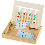abordables -jouer à quatre couleurs intelligentes& amp; jeu de puzzle de forme jouet montessori amusant& amp; puzzle logique coulissant éducatif à 2 faces pour la forme& amp; jouet de tige