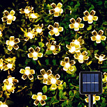 abordables -guirlande lumineuse solaire led 6.5m 30leds fleur de cerisier extérieur waterpoof 8 mode blanc chaud coloré blanc extérieur étanche fée lumière noël mariage vacances décoration lampe