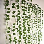 abordables -12pcs 220cm plantes artificielles vigne décoration murale fête de mariage feuilles artificielles décoratives