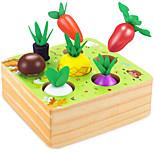 abordables -jouets en bois pour garçons et filles 1 2 3 ans jouets éducatifs de tige de taille de forme puzzle de tri récolte de légumes et de fruits cadeau de jouet montessori pour les tout-petits de 1 à 2 ans