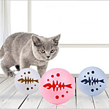 abordables -Ensemble de jouets pour chats Chien Petit Chat 3 pièces Rondes Compatible avec animaux de compagnie Réutilisable Exercice pour animaux de compagnie Plastique Cadeau Jouet pour animaux de compagnie