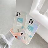 abordables -téléphone Coque Pour Apple Coque Arriere iPhone 12 Pro Max 11 SE 2020 X XR XS Max 8 7 Motif Mot / Phrase TPU