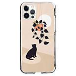 economico -Creativo Gatto Astuccio Per Mela iPhone 12 iPhone 11 iPhone 12 Pro Max Design unico Custodia protettiva Fantasia / disegno Per retro TPU