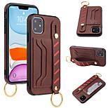abordables -téléphone Coque Pour Apple Coque Arriere iPhone 12 Pro Max 11 SE 2020 X XR XS Max 8 7 6 Porte Carte Antichoc Couleur Pleine faux cuir TPU