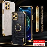 abordables -téléphone Coque Pour Apple Coque Arriere Étui en cuir iPhone 12 Pro Max 11 SE 2020 X XR XS Max 8 7 Antichoc Etanche à la Poussière Couleur Pleine faux cuir TPU