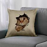 economico -doppio lato 1 pz fodera per cuscino animale stampa 45x45 cm lino per divano camera da letto