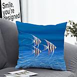 abordables -1 pcs Polyester Housse de coussin Taie d'oreiller et insert, 3D simple Classique Carré Zip Polyester Traditionnel Classique