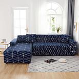 abordables -Grille de treillis géométrique impression housses tout-puissantes étanches à la poussière Housse de canapé en forme de L Housse de canapé en tissu super doux avec une taie d'oreiller