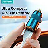 economico -Multi-porte 2 porte USB Solo caricabatterie 5 V / 3.1 A
