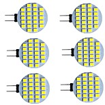 abordables -6 pièces 2 W LED à Double Broches 280 lm G4 24 Perles LED SMD 2835 Blanc Chaud Blanc 9-30 V