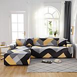 economico -fodere antipolvere onnipotenti con stampa geometrica gialla e grigia copridivano elasticizzato a forma di l fodera per divano in tessuto super morbido con una federa gratuita
