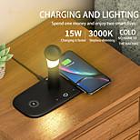 abordables -Chargeur sans fil 15W 5 en 1 QC3.0 Chargeur de charge rapide avec lampe Chargeur sans fil Charge rapide pour iPhone 12 11 Samsung S21 Air Pods Apple Watch 6 5 4 Chargeur sans fil OnePlus 9 avec veilleuse
